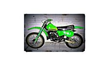 1979 kx125 Bike Motorcycle A4 Retro Metal Sign Aluminium