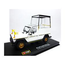 BBURAGO 31018 papamobil MERCEDES BENZ G500 blanc échelle 1:43 Maquette de