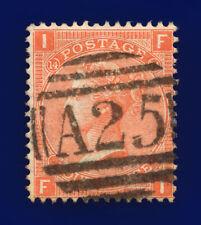 1873 Sg94 4d Vermilion Plate 14 J61 Fi Malta A25 Good Used Cat £110 cjok