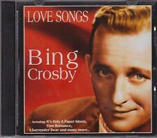 BING CROSBY - LOVE SONGS - CD - NEW -