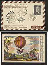 Austria nice ballon card 1957 Ms0607
