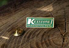 Keystone 1999 Home Depot Partner of the Year Pin Pinback Green Gold Tone Metal
