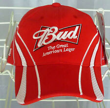 """New, Nascar, Budweiser, """"The Great American Lager""""  embroidered hat/cap"""