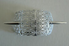 SALE Filigree Vintage Hair Clip Pin West Germany Light Weight Never Worn SilverB