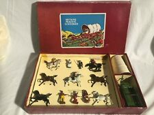 Britains Set #2042 Covered Wagon with Escort Cowboys and American Indian Attack