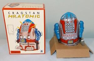 Schylling Cragstan Mr. Atomic Silver Wind-Up Collector Item MS-632 NIB