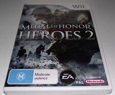 Medal of Honor Heroes 2 Nintendo Wii PAL *Complete* Wii U Compatible