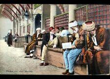 MOSTAR (YOUGOSLAVIE / BOSNIE) HOMME Turc à la lecture / MOSQUEE en 1916