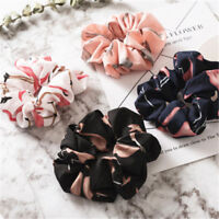Women Hair Scrunchie Ponytail Rope Ring Tie Holder Flamingos Elastic Hair Band
