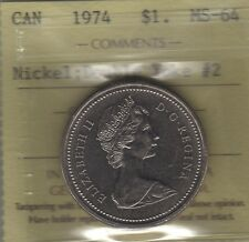 1974 Canada Winnipeg DOUBLE YOKE # 2 One Dollar Coin. ICCS MS-64 GEM UNC RARE