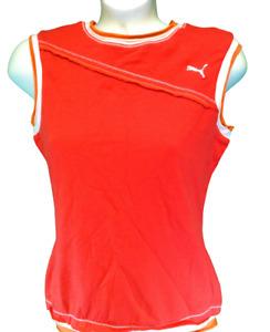 Womens Puma Spin Vintage 502589 01 Layered Look Sleeveless Tank Top Tee Shirt