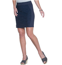 Toad & Co Navy Blue Sama Skirt Sz S Textured Pull On Stretch