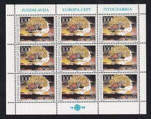 Yugoslavia Europa 1986 Brain-Mushroom Cloud MNH pane of 9, sc#1780  [p63]
