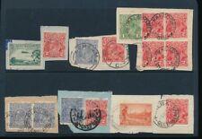 AUSTRALIA 1920-30 USED on PIECE POSTMARKS etc...15 stamps