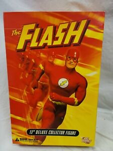 "DC Direct THE FLASH 13"" Deluxe Collector Figure New In Box JUSTICE LEAGUE JLA"