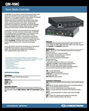 """CRESTRON QM-RMC-100 ROOM MEDIA CONTROLLER """"ALL"""" TERMINALS & PW-1205 POWER SUPPLY"""