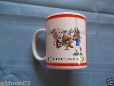 "Looney Tunes Chicago 4"" unused coffee mug Bugs Taz Daffy Tweety Sylvester Wile E"