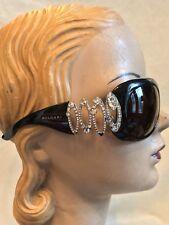 Bvlgari Black Heavy Rhinestone Sunglasses MODEL 8016-B, Black Lenses