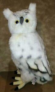 "Hansa Creation Hand Crafted Plush Stuffed Animal White Realistic Snow Owl 17"""