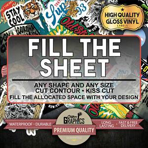 Custom Sticker Bulk Print Vinyl Your Design Decals Labels Logo Stickers Printing