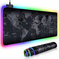 USB LED Gaming Mauspad Laptop Verdickung PC XXL RGB Bunte Mauspad 800x300x3cm DE
