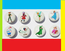 8 PETER PAN NEVERLAND BOYS KIDS DRESSER DRAWER KNOBS  MADE AS ORDERED
