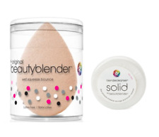 Authentic BeautyBlender Nude Makeup Sponge & MiniSolid Cleanser Latex Free
