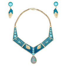 New Official Disney Pocahontas Golden Costume Jewellery Set Fancy Dress