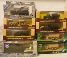 Collection Of 8x Solido Military Diecast Vehicles BNIB