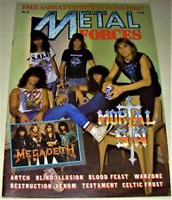 RARE Vintage 1988 METAL FORCES Magazine #27 - MEGADETH,WARZONE,TESTAMENT,VENOM