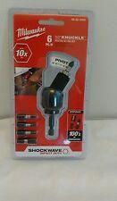 Nip Milwaukee 48-32-2300 6pcs 30Deg Knuckle Pivot Set flex hex bit holder
