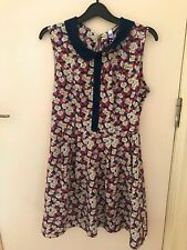 Floral Peter Pan Collar Dress, H! by Henry Holland in Size 12
