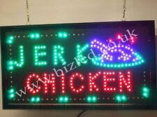 Flashing  JERK CHICKEN  catering food led new  window Shop signs