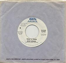 RICK DANKO – What A Town Mono/Stereo 1977 Promo 45