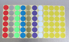 32mm Round 8 Colour Dot Sticker Circle Sticky Self Adhesive Label
