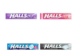 Halls Menthol Eucalyptus Sore Throat Cough Sweets 32g - 4 FLAVOURS AVAILABLE