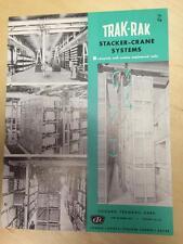 Vtg Chicago Tramrail Corp Brochure ~ Trak-Rak Stacker-Crane Systems