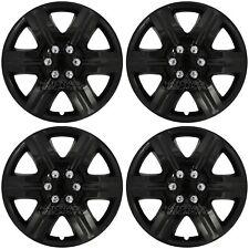 "Set of 4 18"" Black Full Wheel Covers Hub Caps R18 Tire Rim Hubs fit Steel Wheels"