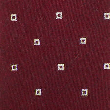 NICKY Burgundy Ivory SQUARES Cashmere Blend Woven Tie NWT