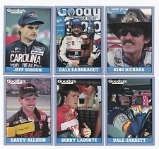 1992 Traks GOODY'S Complete 25 card set BV$25! Gordon Earnhardt Petty D Allison