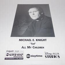 Michael E Knight Autograph Reprint Photo 9x6 All My Children 2003 Young Restless