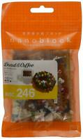 NBC246 Nanoblock DONUT & COFFEE Mini Building Blocks Toy 180 pieces 12 Years+