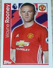 199 Wayne Rooney MAN UNITED 2016/2017 Topps Merlin Premier League sticker