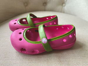 Crocs Girls Sandals Rubber Pink Sz 5 Toddler Baby Summer NEW