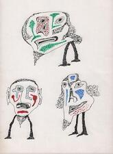 ABSTRACT SURREALIST FIGURES Pen & Ink Drawing ARTHUR MITSON c1985 SURREALISM