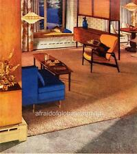 Old Print. Home Living Area in 1960