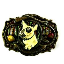 Collectable Belt Buckle PARTY ANIMAL Bull Terrier Dog Ltd #525 Made ENGLAND 3D