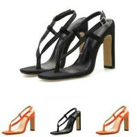 Clip Toe Thong Slingbacks Sandals Roma Block High Heel Women Shoes Party Evening