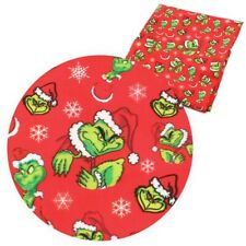 GRINCH CHRISTMAS DR. SEUSS 100% Cotton Fabric Material 19