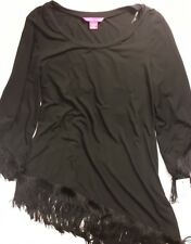 Sunny Leigh Women's Black 3/4 Sleeve Blouse Size Large NWT